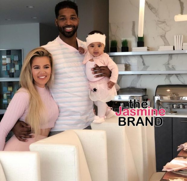 Khloe Kardashian & Tristan Thompson Face Backlash After Hinting At Giving True 'A Sibling'