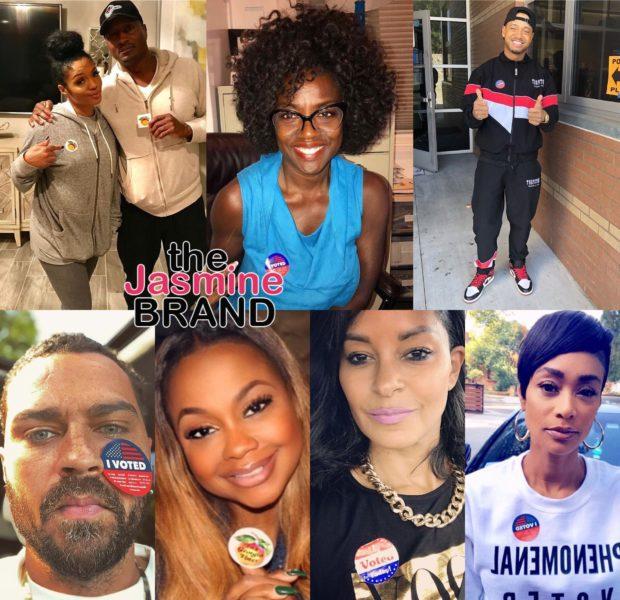 Celebs Spotted At The Polls! Viola Davis, Jesse Williams, Tami Roman, Phaedra Parks, Dave Chappelle, Larenz Tate