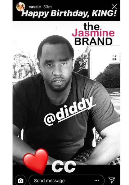 Cassie's Message To Ex Boyfriend Diddy On His Birthday
