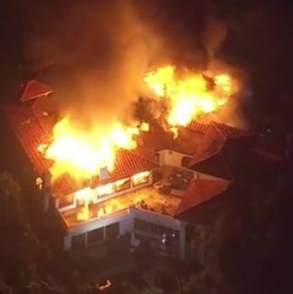 Celeb Homes Threatened By California Wildfires: Kardashian's, Robin Thicke, Niecy Nash, Lil Pump, August Alsina, Damon Dash