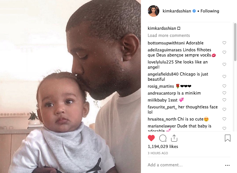 Kanye Sweetly Kisses Baby Chicago [Photo] - theJasmineBRAND