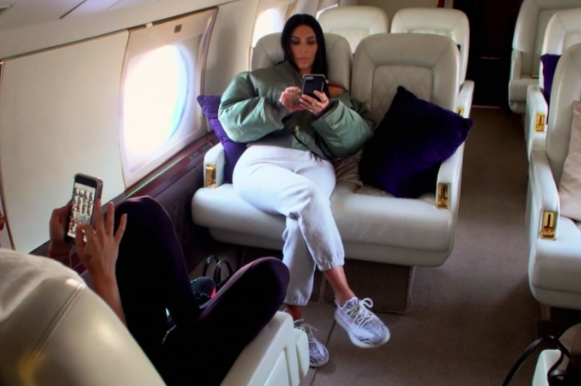 Kim Kardashian Gives A Tour Of Extravagant Double Decker Private Plane [VIDEO]