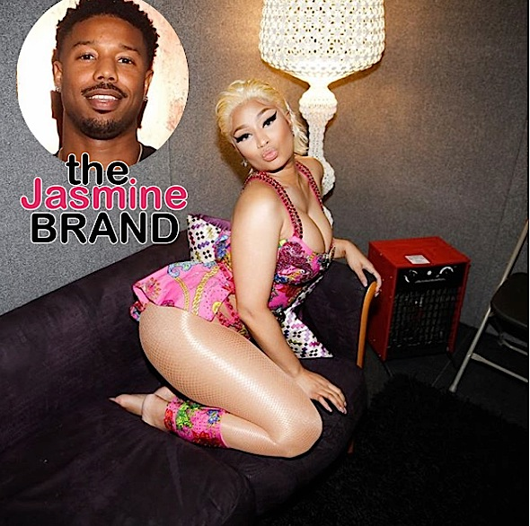 Nicki Minaj Blatantly Flirts w/ Michael B Jordan On Live TV [VIDEO]