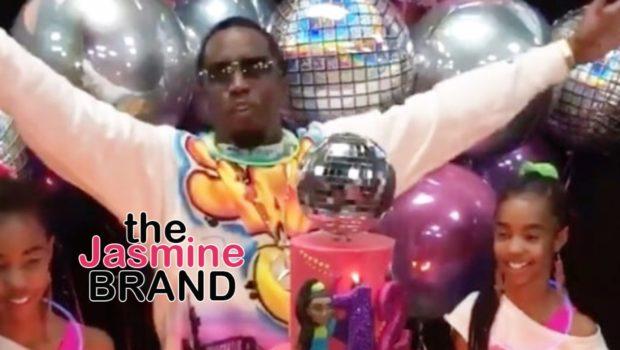 Diddy's Twin Daughters Jessie & D'Lila Celebrate Turn 12 w/ 80s Themed Bash: Jay Z, Kim Kardashian Attend