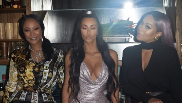 Kanye & Kim Kardashian Party in Versace W/ Celeb Friends – LaLa Anthony, Fabolous, 2 Chainz