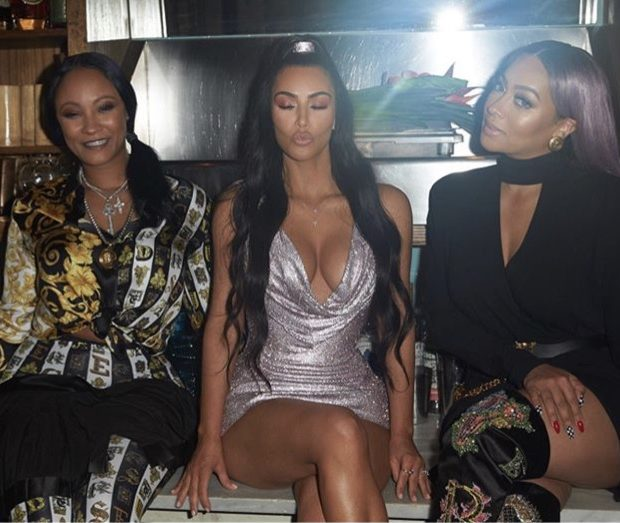 Kanye & Kim Kardashian Party in Versace W/ Celeb Friends – LaLa Anthony, Fabolous, 2 Chainz