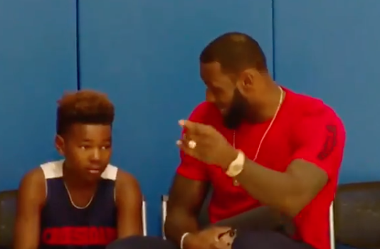 Lebron Shares Touching Basketball Advice With Youngest Son Bryce [VIDEO]