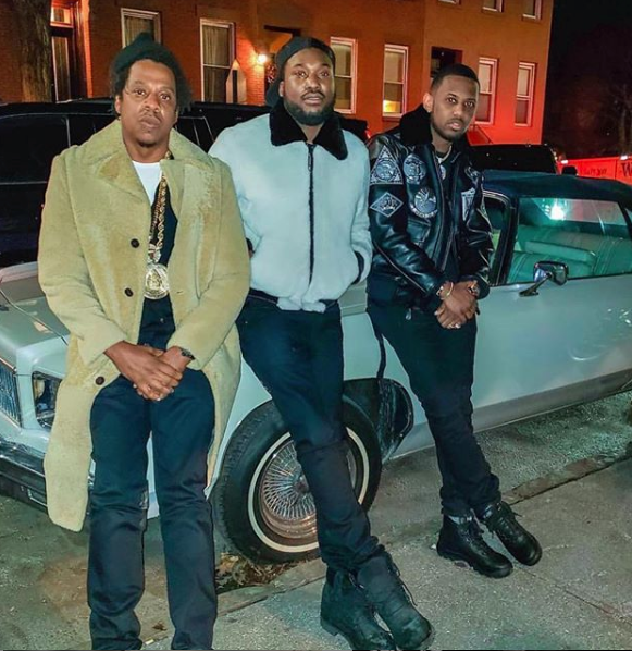 Jay Z Gives Meek Mill His Chain, Hits NYC Party w/ Fabolous