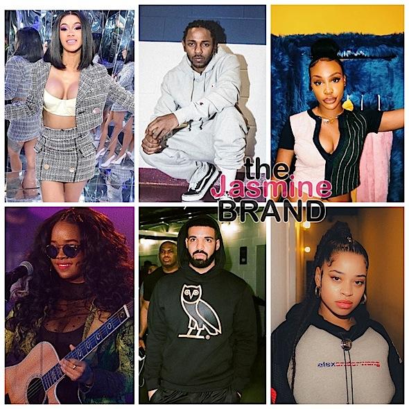 Kendrick Lamar Leads Grammy Nominees + Drake, Kendrick Lamar, Cardi B, H.E.R., Ella Mai, SZA & More
