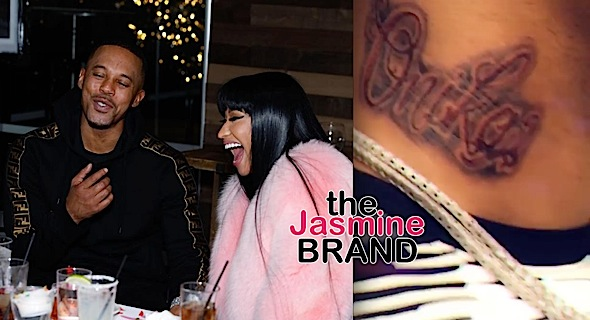 Nicki Minaj's Boyfriend Gets Her Name Tattooed On His Neck [VIDEO]