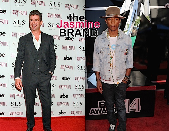 Pharrell, Robin Thicke Ordered To Pay Marvin Gaye's Family $5 Mill