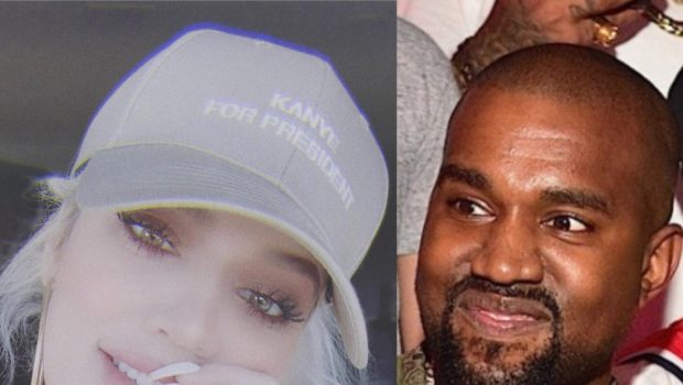 Khloé Kardashian Rocks Hat Encouraging Kanye West To Run For President