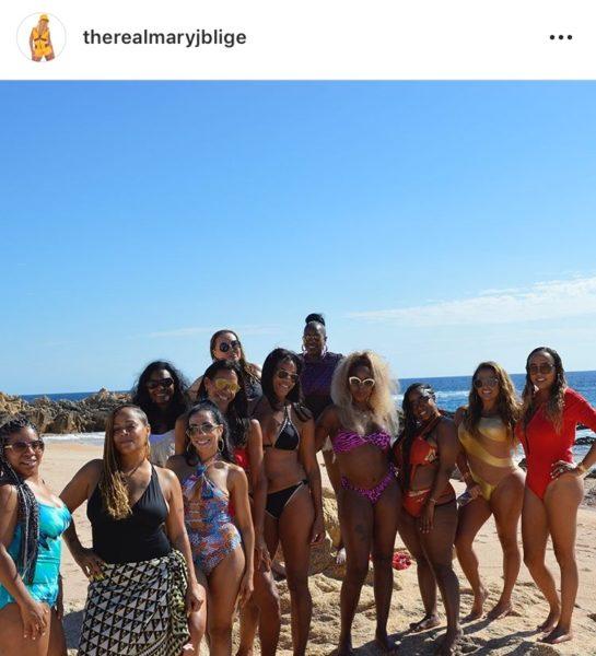 Mary Bikini Birthday Rings In 48th Showing Body Banging Off JBlige Ybfg76yImv