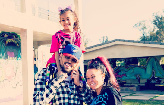 Chris Brown Poses W/ The Most Important Women In His Life, Amidst Rape Allegations