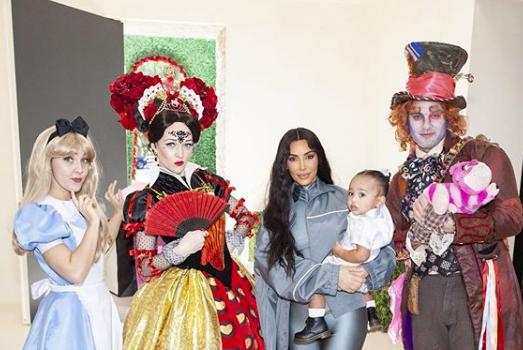"Kim Kardashian Throws Daughter Chicago West 'Alice in ""One""derland' Themed B-Day"