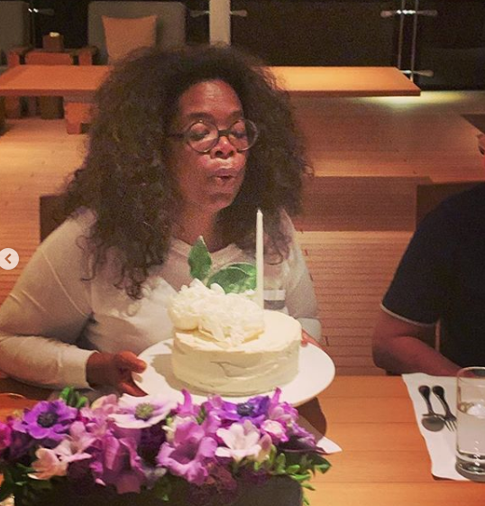 Here's How Oprah Celebrated Her 65th Birthday [Photos]