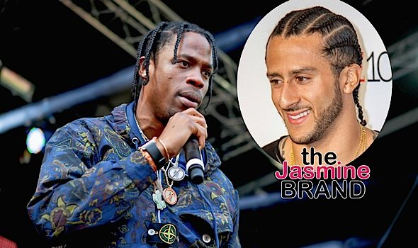 Travis Scott Spoke w/ Colin Kaepernick About Super Bowl, Fans Speculate Rapper Will Propose to Kylie Jenner
