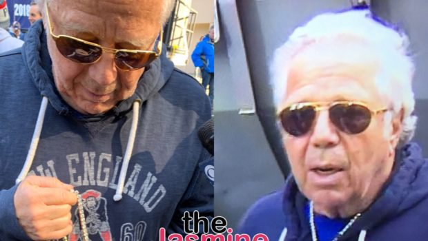 "Patriots Owner Rocks ""Championships"" Necklace Gifted By Meek Mill [VIDEO]"