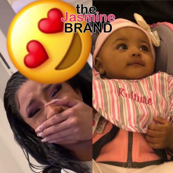 Kulture Cardi B: Cardi B Cries As Daughter Kulture Say Mama For 1st Time