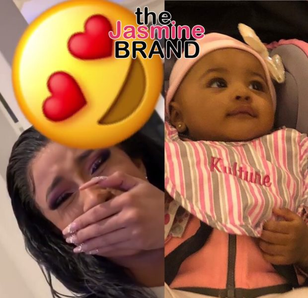 Cardi B Cries As Daughter Kulture Say Mama For 1st Time [VIDEO]