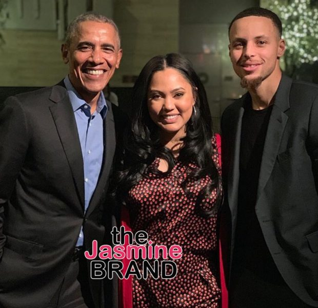 Ayesha & Steph Curry Have Dinner W/ Barack Obama