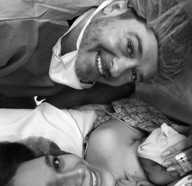 Robin Thicke & Finacée April Love Geary Welcome 2nd Baby [Photos]