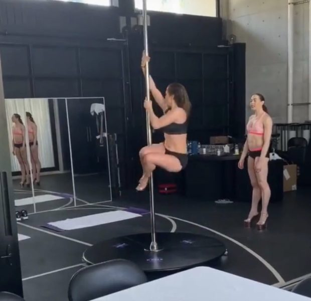 J.Lo Takes Stripper Pole Lessons [VIDEO]
