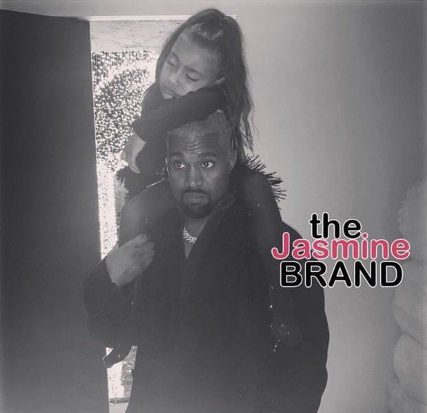 Kim Kardashian Shares Photo of Daughter North West Sleeping On Kanye's Head!