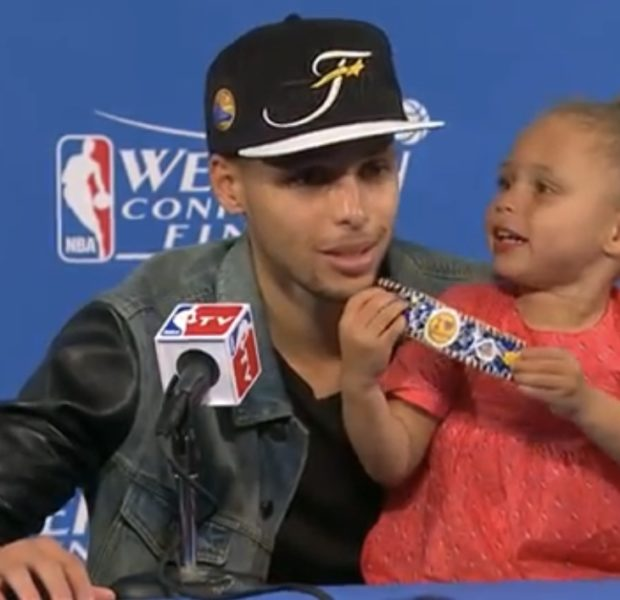 Steph Curry Regrets Bringing Daughter Riley Curry To Press Conference [VIDEO]
