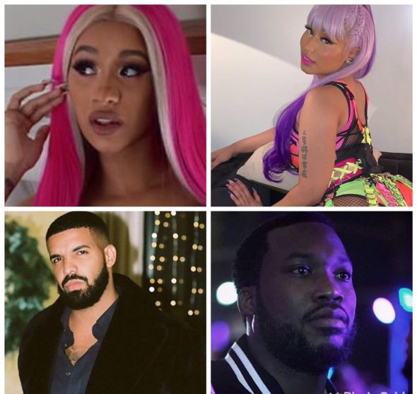 Nicki Minaj's Reignites Beef W/ Cardi B, Trashes Drake & Ex Meek Mill On New Song