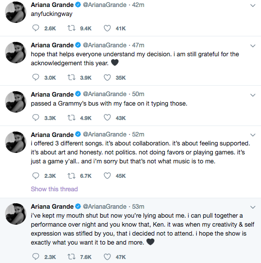 Ariana Grande Accuses Grammy Producer Of Lying – I Can Pull