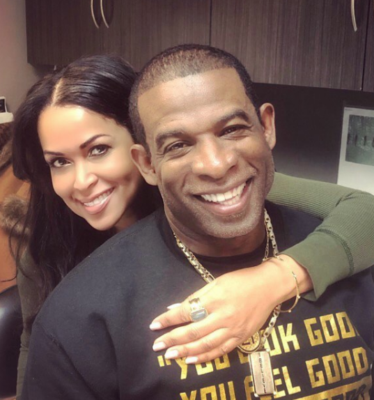 Deion Sanders   Girlfriend of 8 Years Tracey Edmonds Are Engaged ... b86f2caed