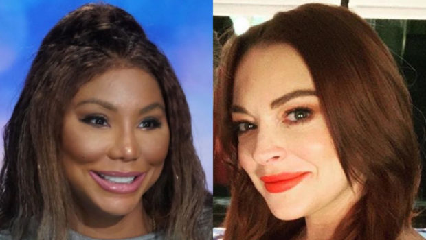 "Lindsay Lohan Lashes Out At Tamar Braxton, Threatens To Expose Her Mom's ""Celebrity Big Brother"" Castmates"