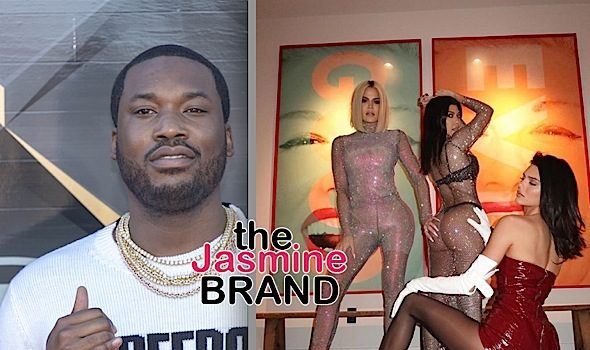 Meek Mill Compliments Kourtney Kardashian's Fat A** In Sister's Hot Shoot