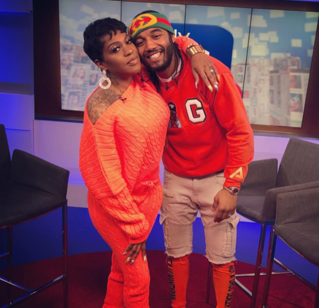Lil' Mo's Husband Caught On Camera Affectionately Talking To Mystery Woman