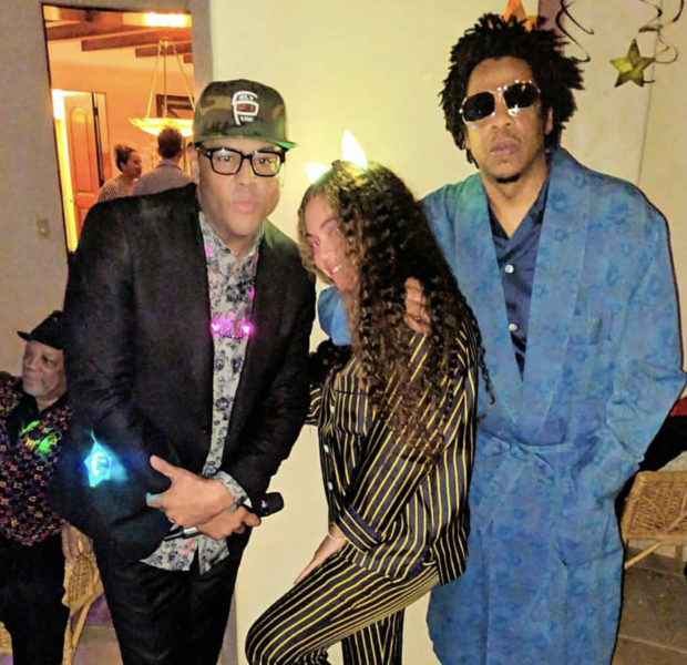 Beyonce & Jay Z Spotted At Quincy Jones Pajama Party [VIDEO]