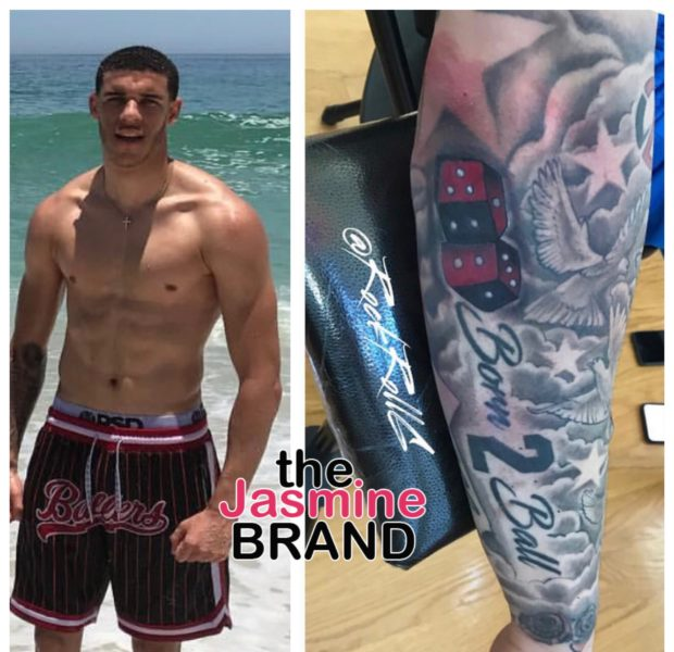 Lonzo Ball Covers His 'BBB' Tattoo Amidst Big Baller Brand's Collapse