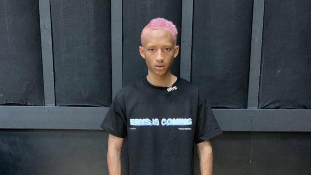 Jaden Smith Rocks Pink Hair W/ Blonde Eyebrows [Photo]