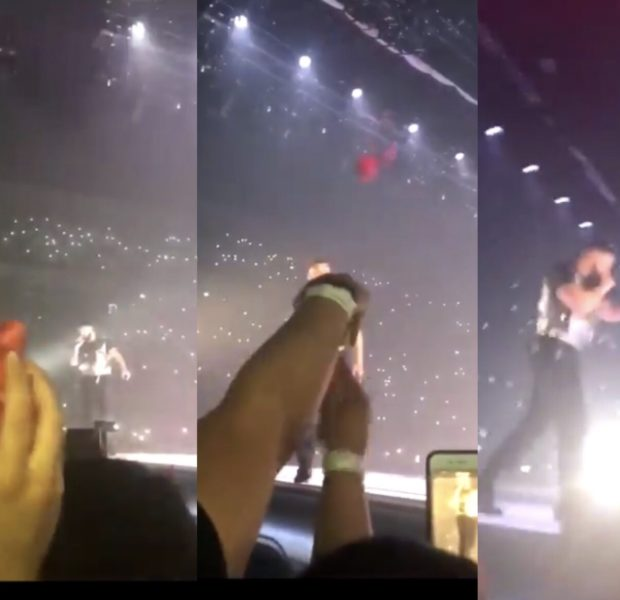 Drake Catches Fan's Bra On Tour [VIDEO]