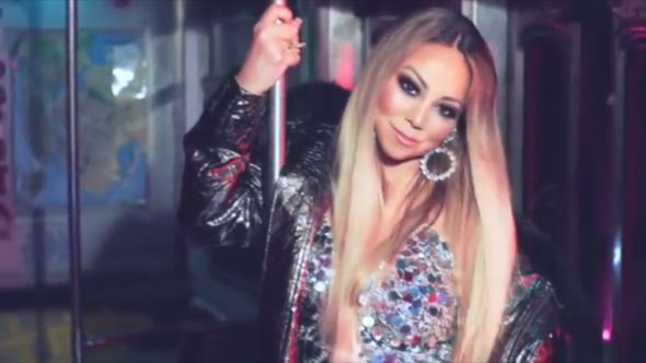 "Mariah Carey Brings Her Kids Along For ""A No No"" Video"