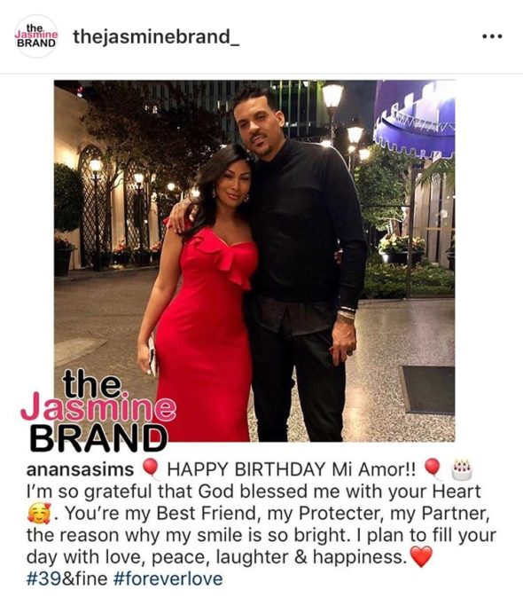 Matt Barnes Girlfriend Anansa Sims Throws Him A Surprise Birthday Party