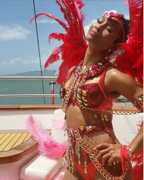 TLC's Chilli Shows Off Her Insanely Hot Body & Carnival Costume W/ Lil Kim, Mya [VIDEO]