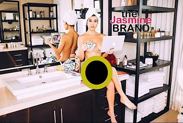 Kourtney Kardashian Poses Naked W/ Laptop [Photo]