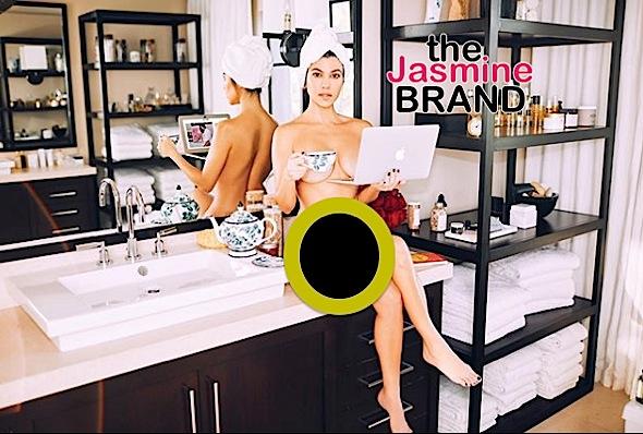 Kourtney Kardashian Poses Naked W/ Laptop [Photo]