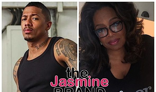 Nick Cannon Calls Out Oprah, Posts Image Of Media Mogul Kissing Harvey Weinstein Asks – What Time Does His Documentary Come On?!