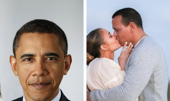 Barack Obama Sends J.Lo & A-Rod A Handwritten Note, Congratulating Them On Their Engagement [Photo]
