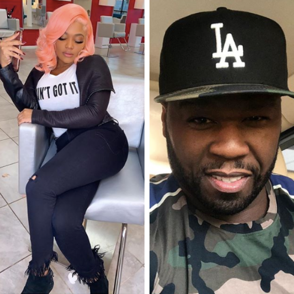 Teairra Mari Wears 'Ain't Got It' Shirt, 50 Cent Responds: That's A New Wig B*tch