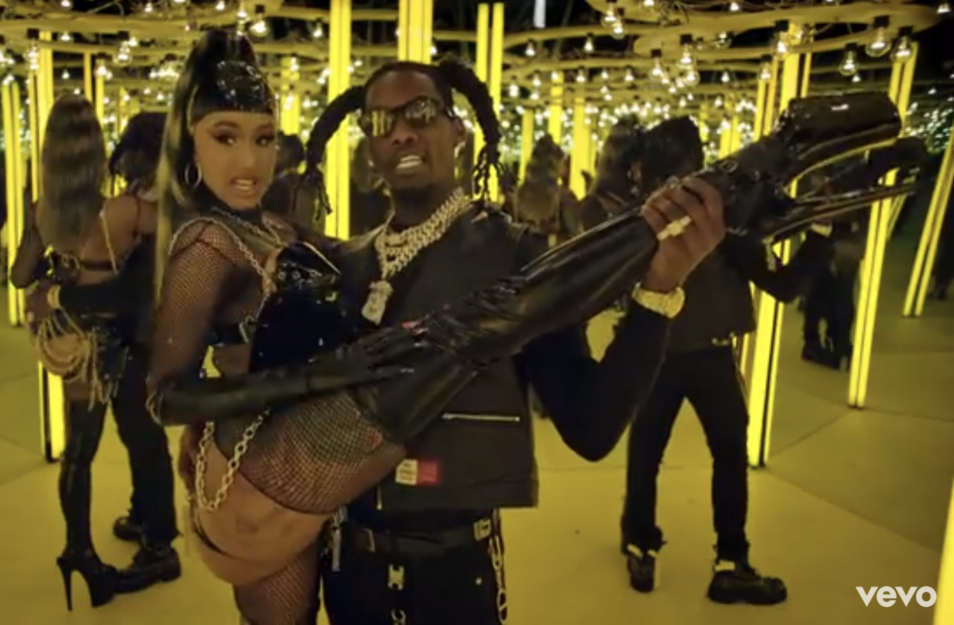 Photos Video Cardi B Gets New Tattoo After 10 Years: Offset & Cardi B Get Steamy In 'Clout' Video