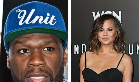 Chrissy Teigen Wants No Problems W/ 50 Cent: 'Please Love Me Fofty'
