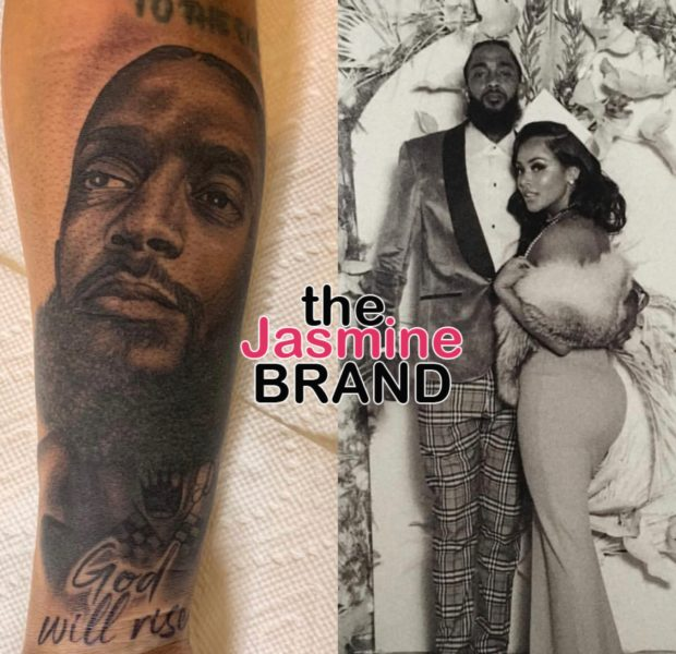 Lauren London Tattoos Nipsey Hussel's Face On Her Arm – When You See Me You Will See Him Forever! [Photo]